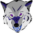 download Wolf clipart image with 225 hue color