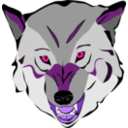 download Wolf clipart image with 270 hue color