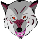 download Wolf clipart image with 315 hue color