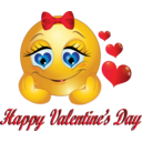 Happy Valentine Day Smiley Emoticon