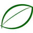 Small Green Leaf Icon