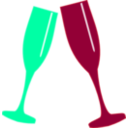 download Champagne Glass clipart image with 135 hue color