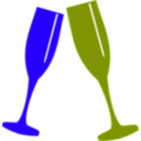 download Champagne Glass clipart image with 225 hue color