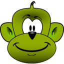 download Monkey Head clipart image with 45 hue color