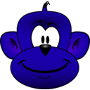 download Monkey Head clipart image with 225 hue color