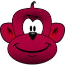 download Monkey Head clipart image with 315 hue color