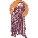download Native American Couple clipart image with 45 hue color