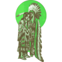 download Native American Couple clipart image with 135 hue color