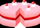 Pink Cake No Plate