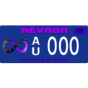 download Vehicle Registration Plate clipart image with 225 hue color