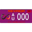 download Vehicle Registration Plate clipart image with 315 hue color