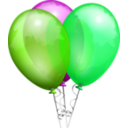 download Balloons Aj clipart image with 90 hue color