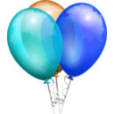 download Balloons Aj clipart image with 180 hue color