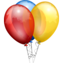 download Balloons Aj clipart image with 0 hue color