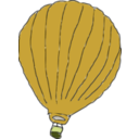 download Hot Air Balloon clipart image with 45 hue color