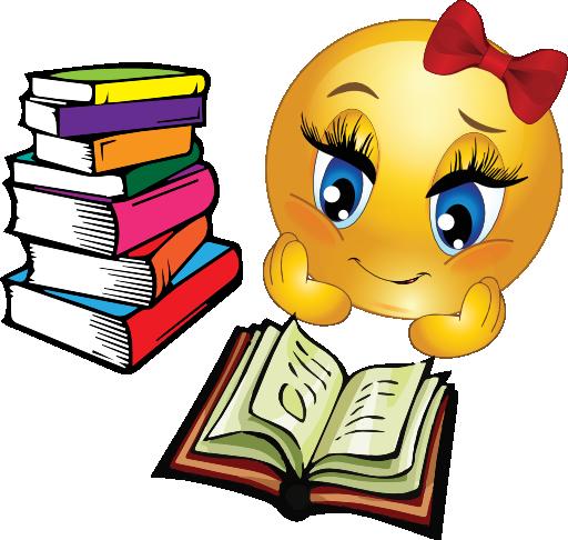 Girl Study Clip Art Clipart-study-girl-smiley- ...