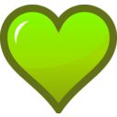 download Orange Heart Icon clipart image with 45 hue color