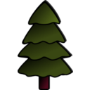 download Tree clipart image with 315 hue color