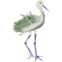 download Bird With Legs clipart image with 225 hue color