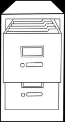 Classeur Ouvert Open File Cabinet