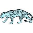 download Leopard clipart image with 135 hue color
