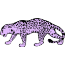 download Leopard clipart image with 225 hue color