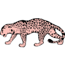 download Leopard clipart image with 315 hue color