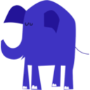 download Blue Elephant clipart image with 45 hue color