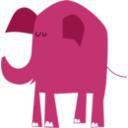 download Blue Elephant clipart image with 135 hue color