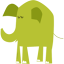download Blue Elephant clipart image with 225 hue color