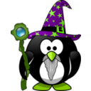 download Wizard Penguin clipart image with 45 hue color