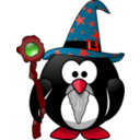 download Wizard Penguin clipart image with 315 hue color