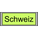Digital Display With Schweiz Text
