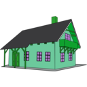 download House 1 clipart image with 90 hue color