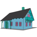 download House 1 clipart image with 135 hue color