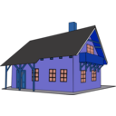 download House 1 clipart image with 180 hue color