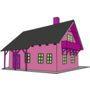 download House 1 clipart image with 270 hue color