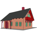 download House 1 clipart image with 315 hue color