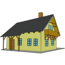 download House 1 clipart image with 0 hue color