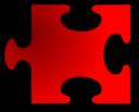 Red Jigsaw Piece 16