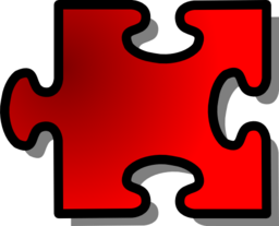 Red Jigsaw Piece 16