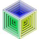 download Engraved Cube 2 clipart image with 45 hue color