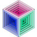 download Engraved Cube 2 clipart image with 135 hue color