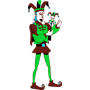 download Singing Jester clipart image with 135 hue color