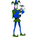 download Singing Jester clipart image with 225 hue color
