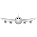 download Airplane clipart image with 315 hue color