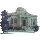 download Carnegie Library Building clipart image with 135 hue color