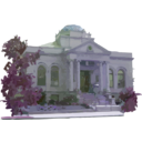 download Carnegie Library Building clipart image with 225 hue color
