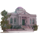 download Carnegie Library Building clipart image with 315 hue color