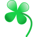 download Four Leaves Clover clipart image with 45 hue color